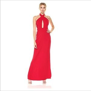 Laundry by Shelli Segal halter evening gown